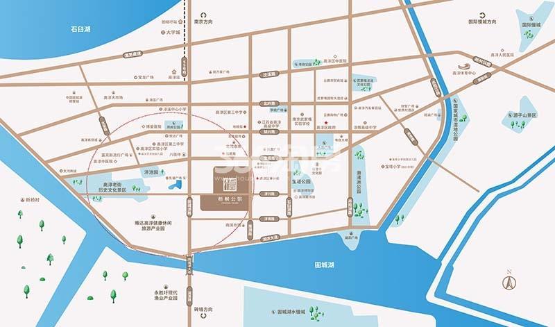 梧桐公馆交通图