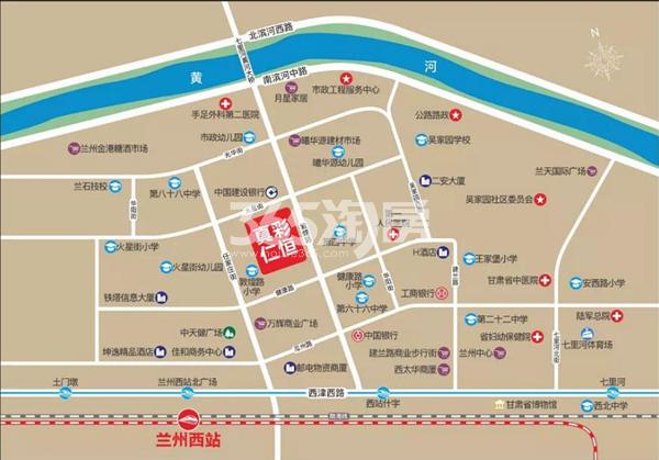 西站·真彩仁恒交通图