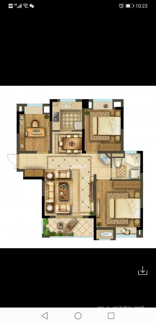 君兰苑3室2厅1卫96.70平米整租毛坯