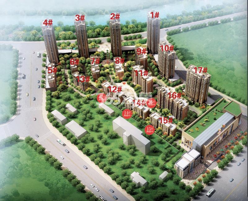 明珠滨水城鸟瞰图