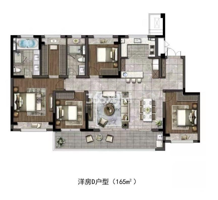 华润置地江湾城低密多层建面约165平户型图
