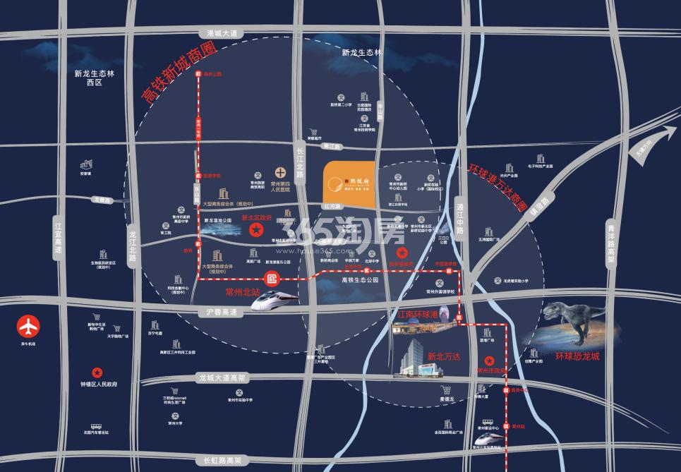 雅居乐·熙悦府交通图