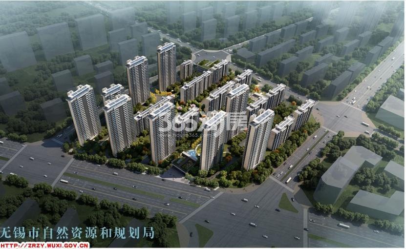 中奥滨河境鸟瞰图