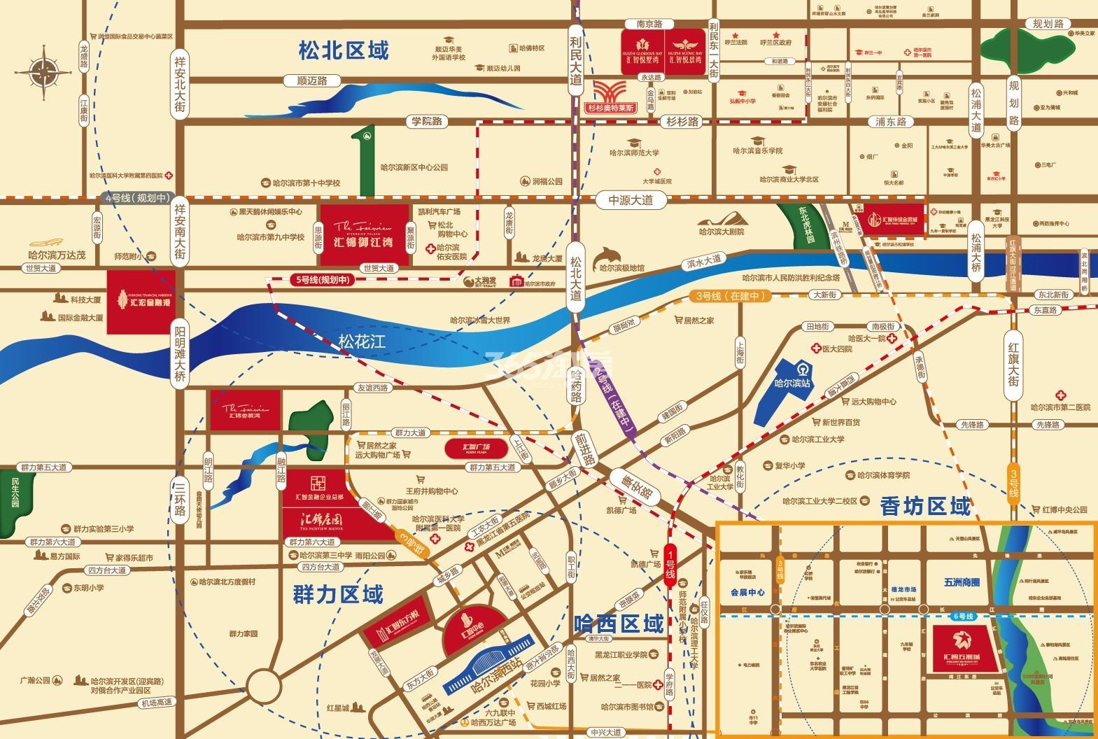 汇智环球金贸城交通图