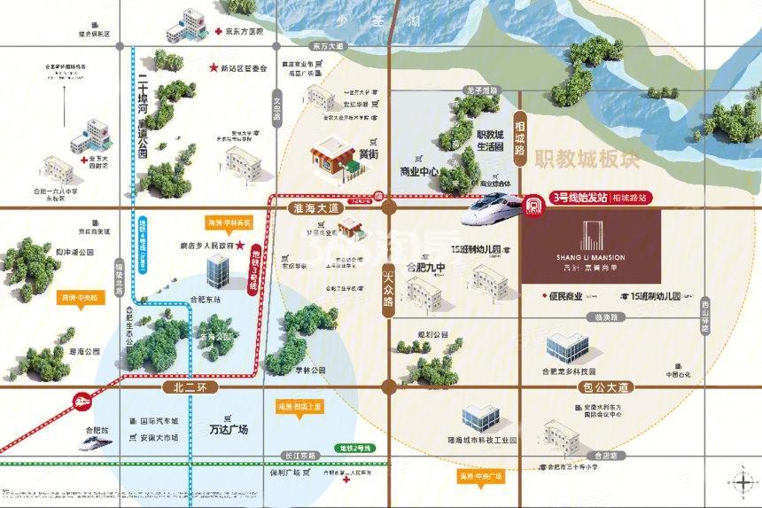 禹洲嘉誉尚里交通图