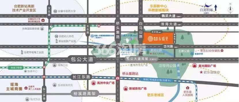 奥园东璟里交通图