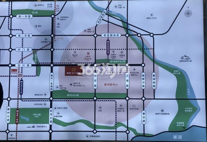奥园龙川玖著交通图