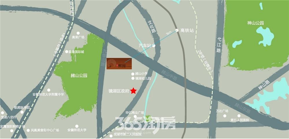 安展熙园交通图