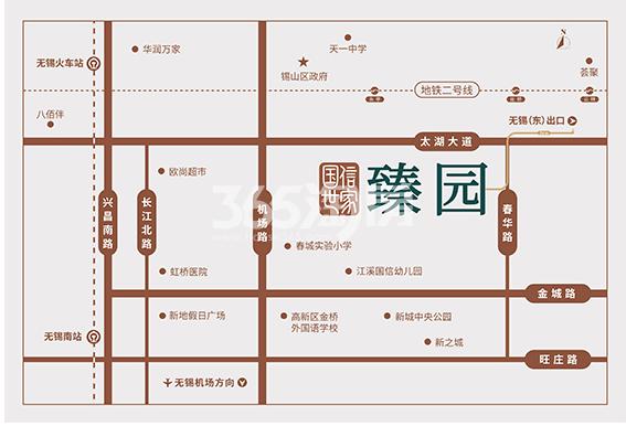 国信世家臻园交通图