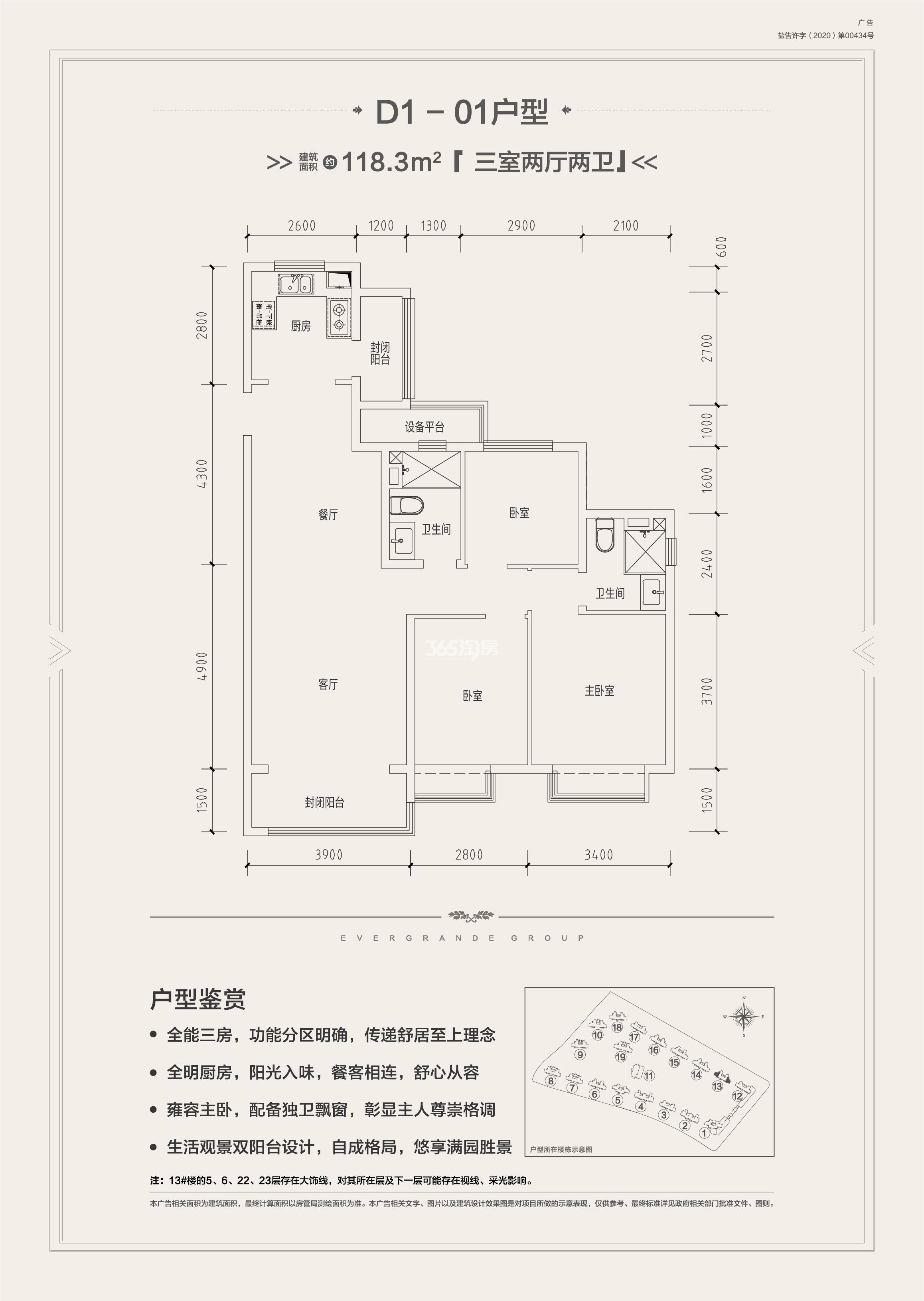 项目户型图D1-01
