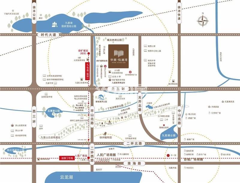 华美悦澜湾交通图