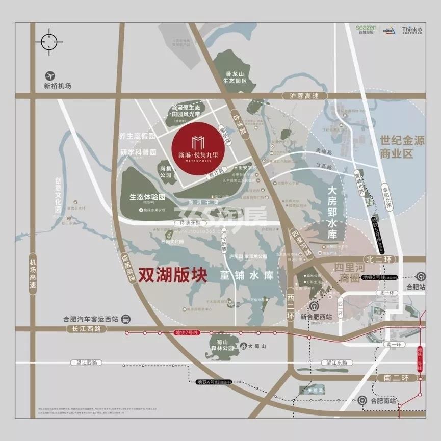 新城悦隽九里交通图