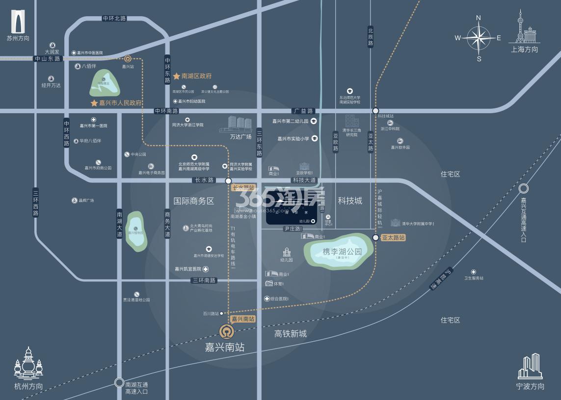 绿地香港云缦世家交通图