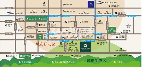 华利·盛景苑交通图