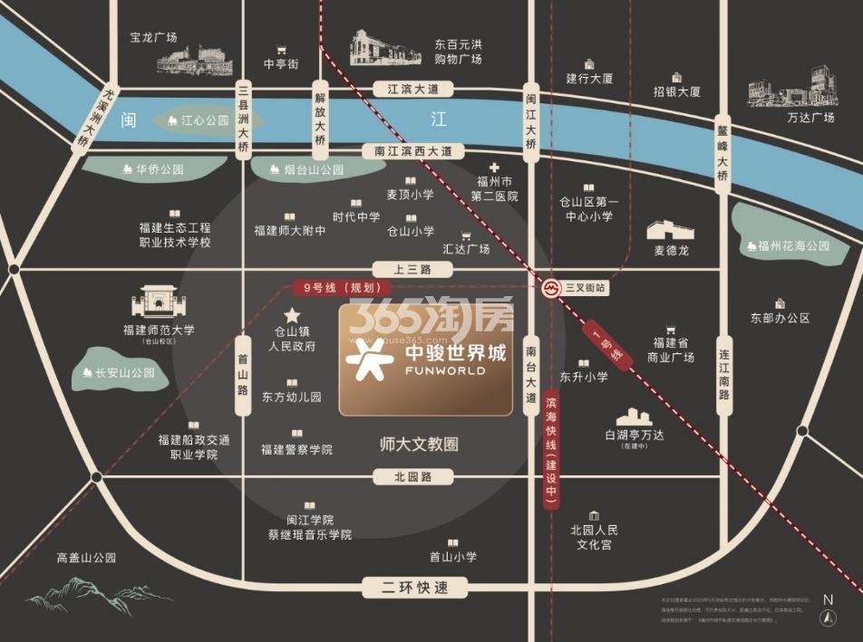 中骏世界城璟悦交通图
