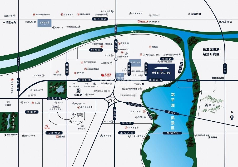 碧桂园·湖山樾交通图