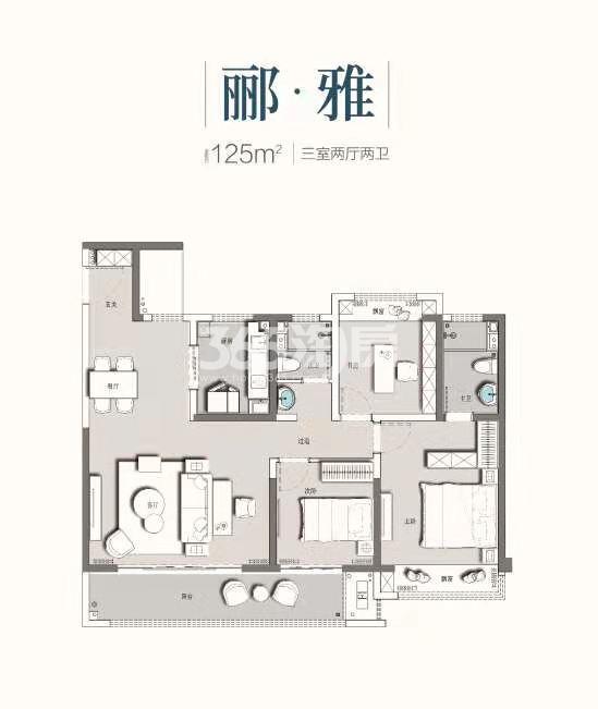 百郦华庭125平户型图