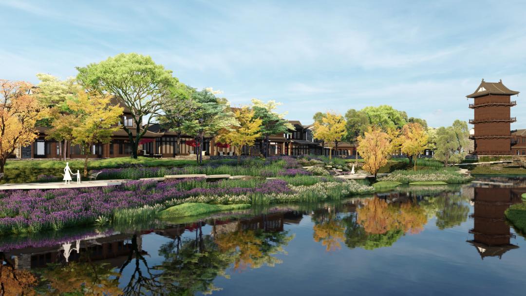 中铁建阳明文旅城:八重景观主轴