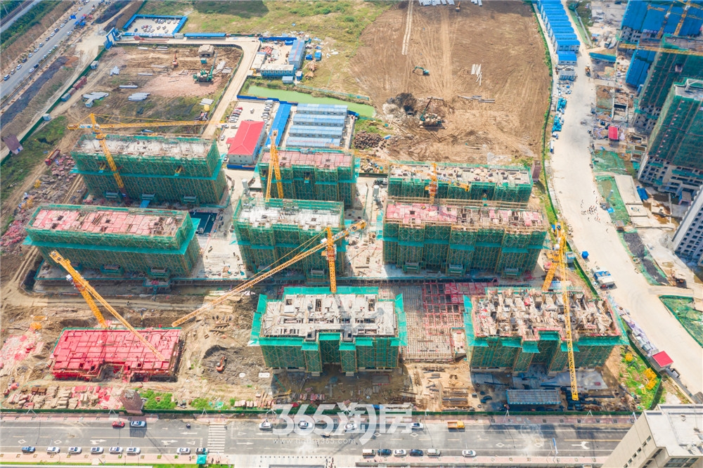 伟星天境工程进度实拍图:18#楼七层结构完成(2020.9月摄)
