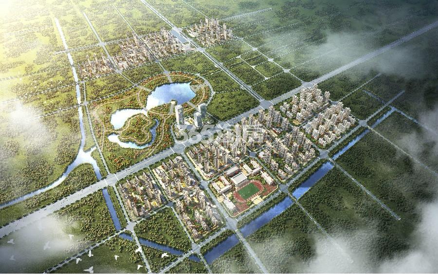 东湖世纪城鸟瞰图