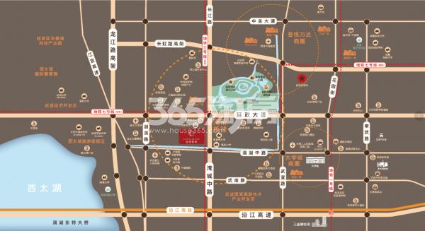 三盛兆地·汝悦春秋交通图