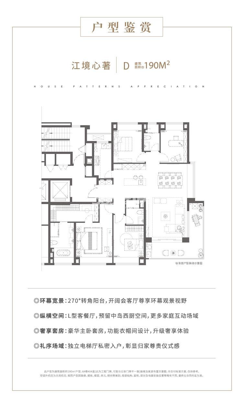 万科翡翠滨江190㎡D户型图
