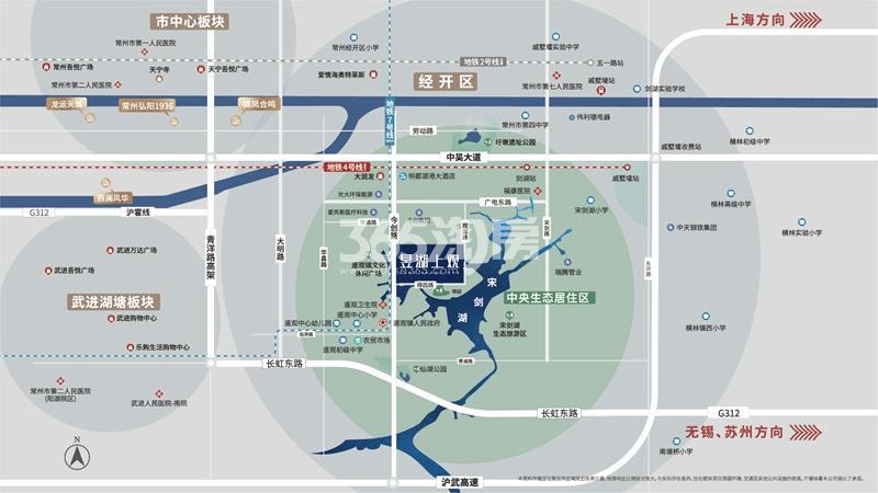 昱湖上观交通图