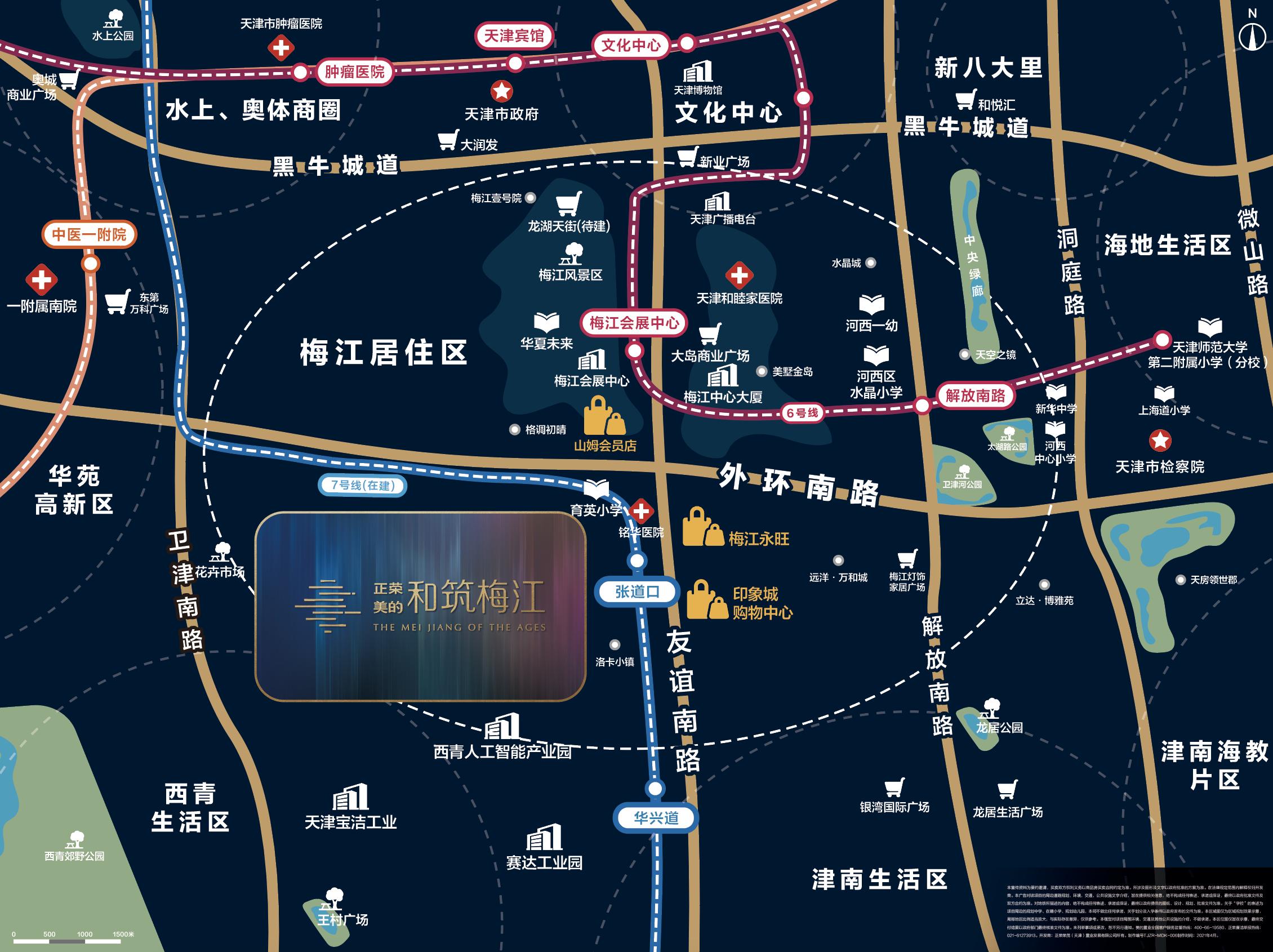 正荣美的和筑梅江交通图