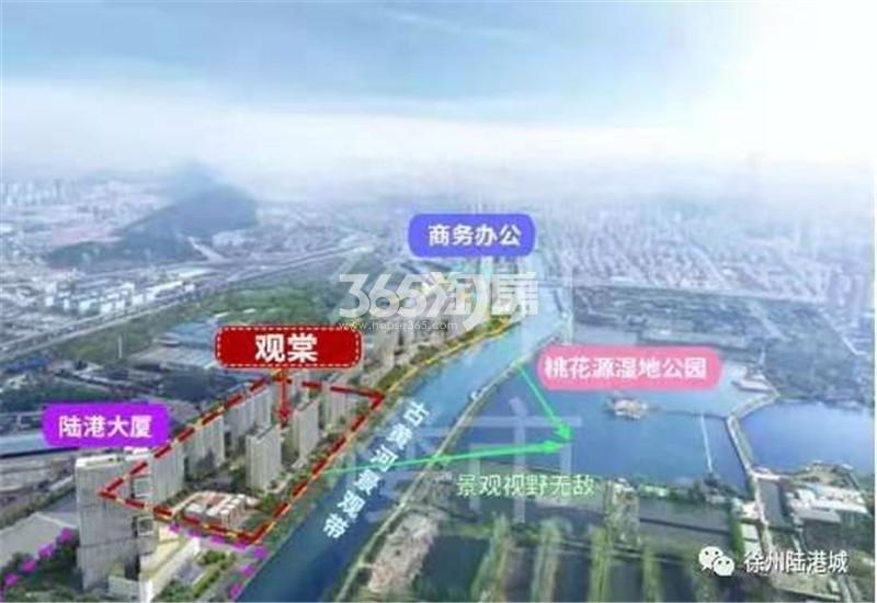 中国中铁陆港城交通图