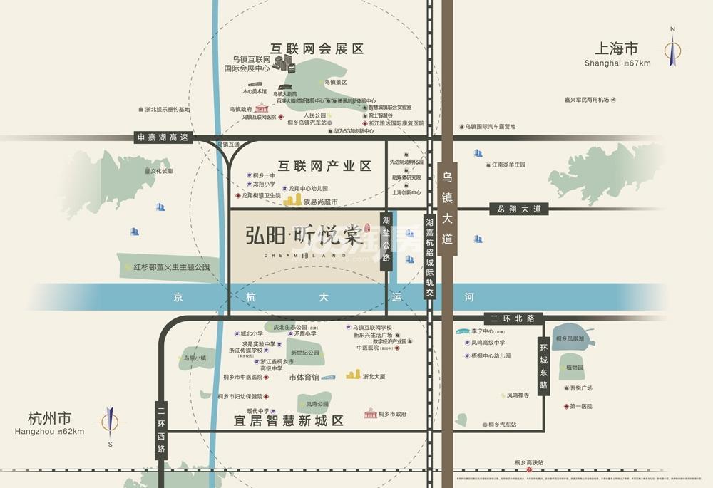 弘阳·昕悦棠交通图