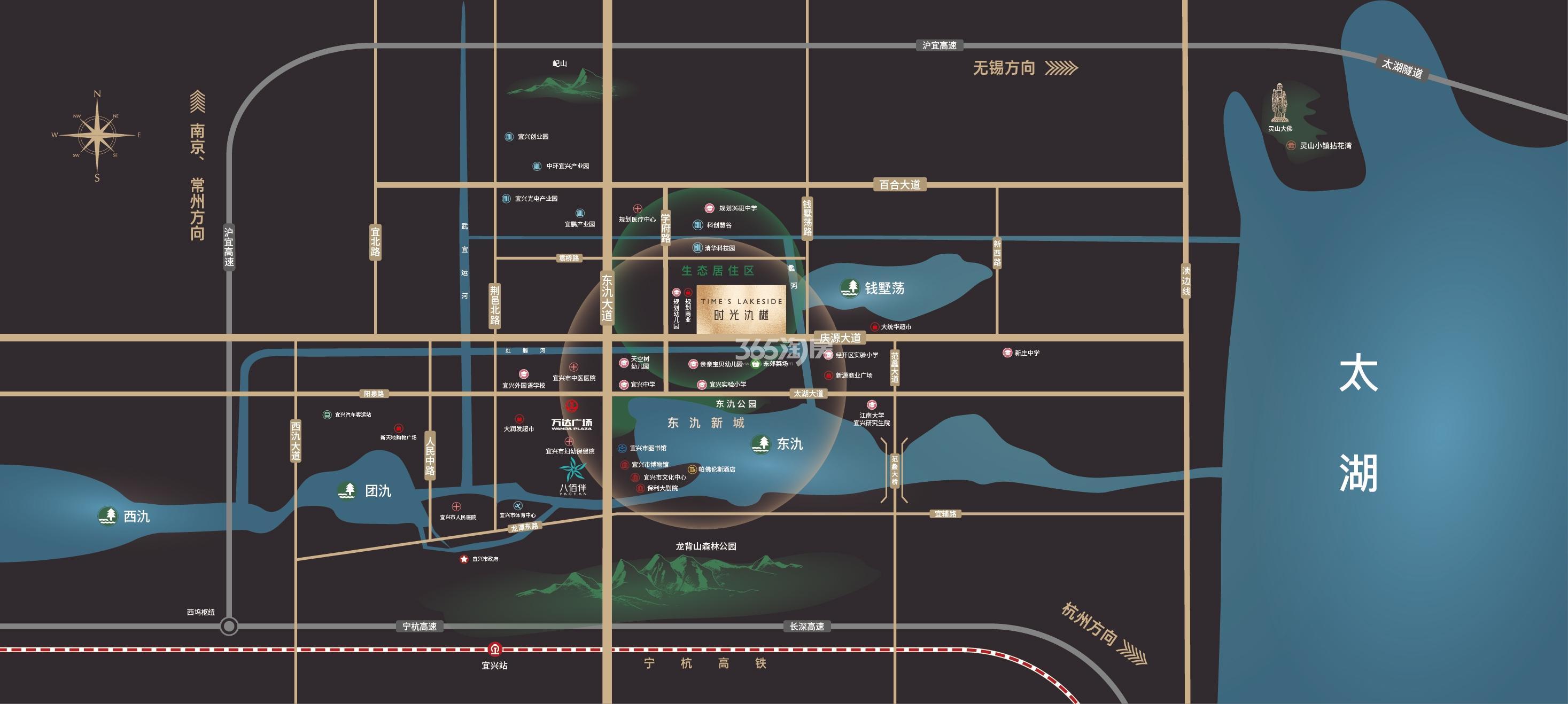 弘阳力高时光氿樾交通图