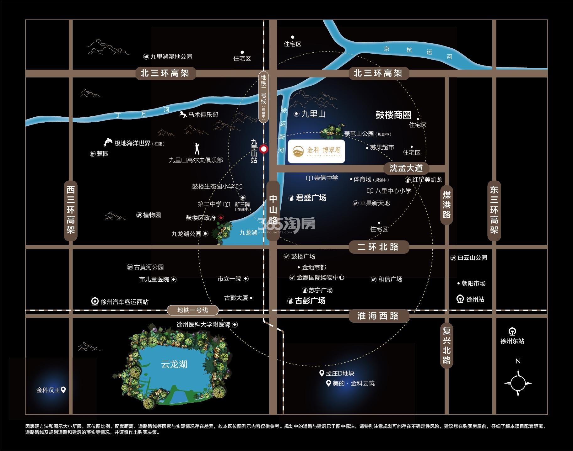 金科博翠府交通图