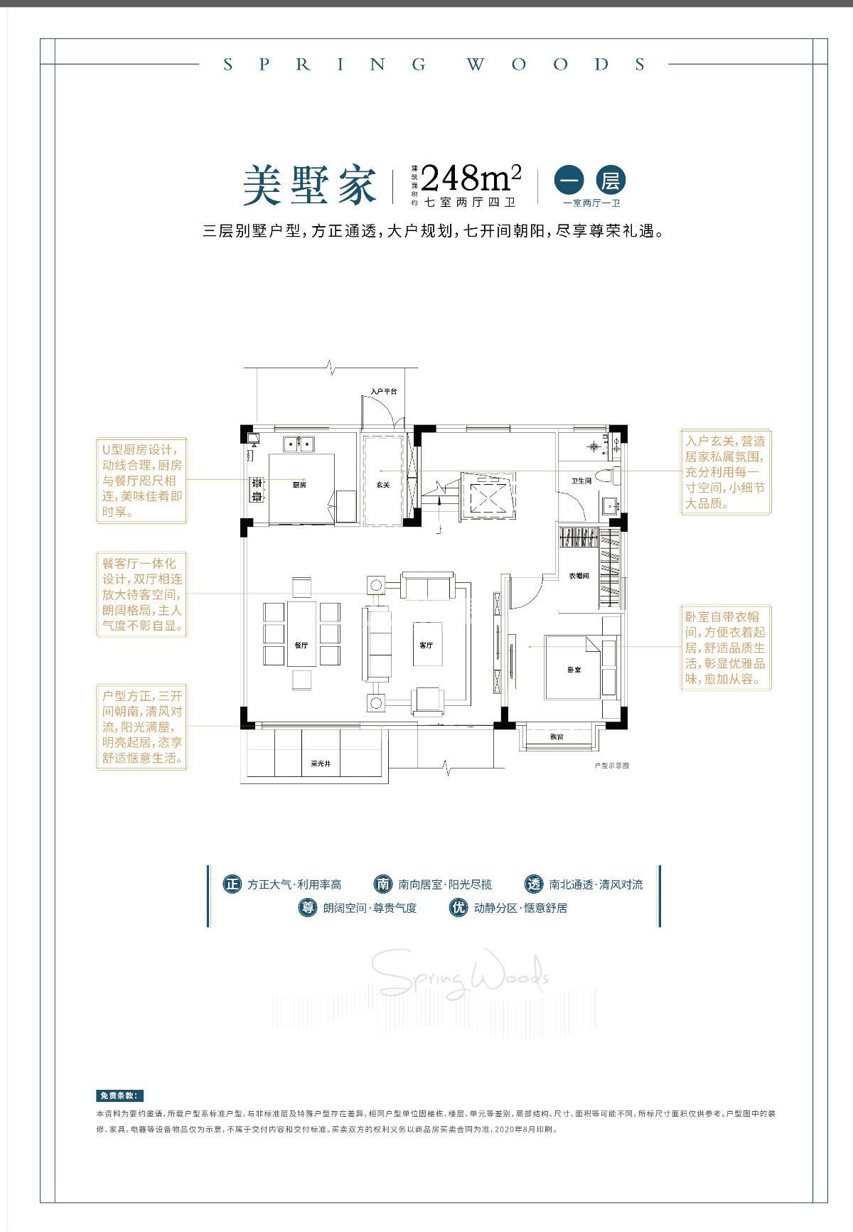 248㎡别墅户型图-地上一层