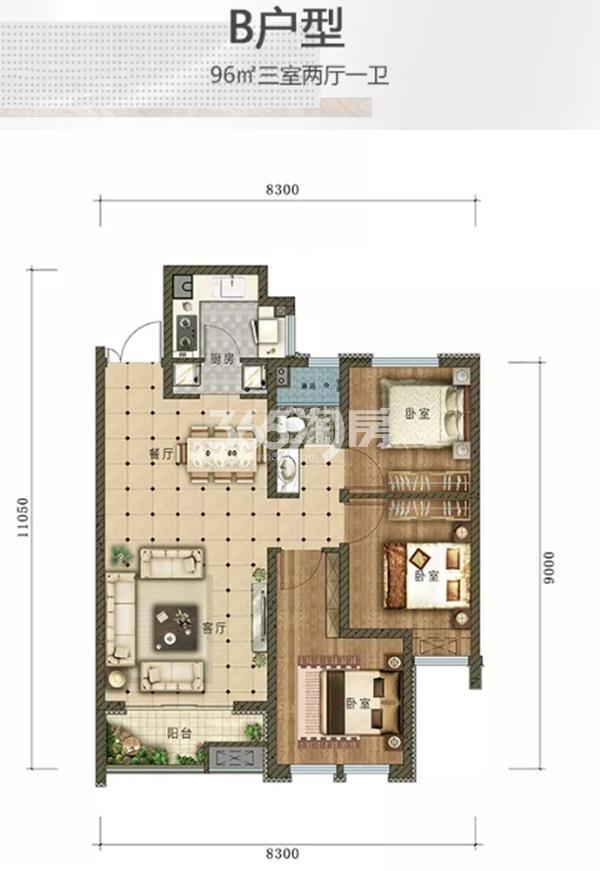 鸿森·银滩广场项目户型图