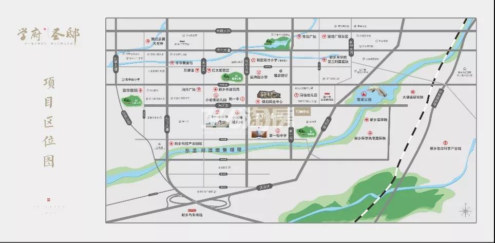 学府圣邸交通图