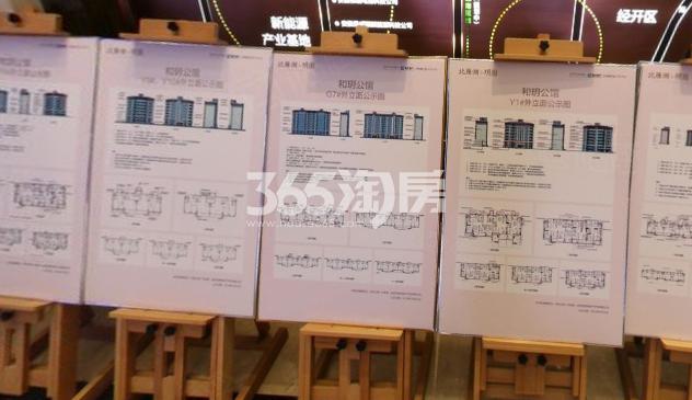 北雁湖玥园售楼部内楼栋外立面公示牌(2021.1.8)