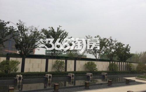 北雁湖玥园售楼部外部景观实景图(2021.1.8)