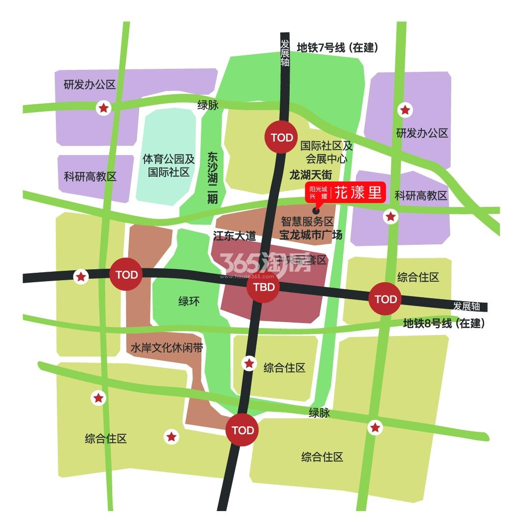 阳光城兴耀花漾里交通图