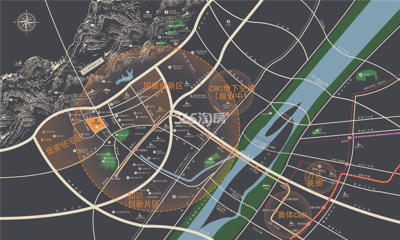 金隅紫京叠院交通区位图