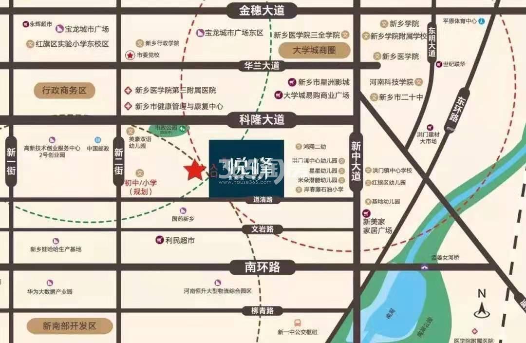 新乡佳兆业·悦峰交通图