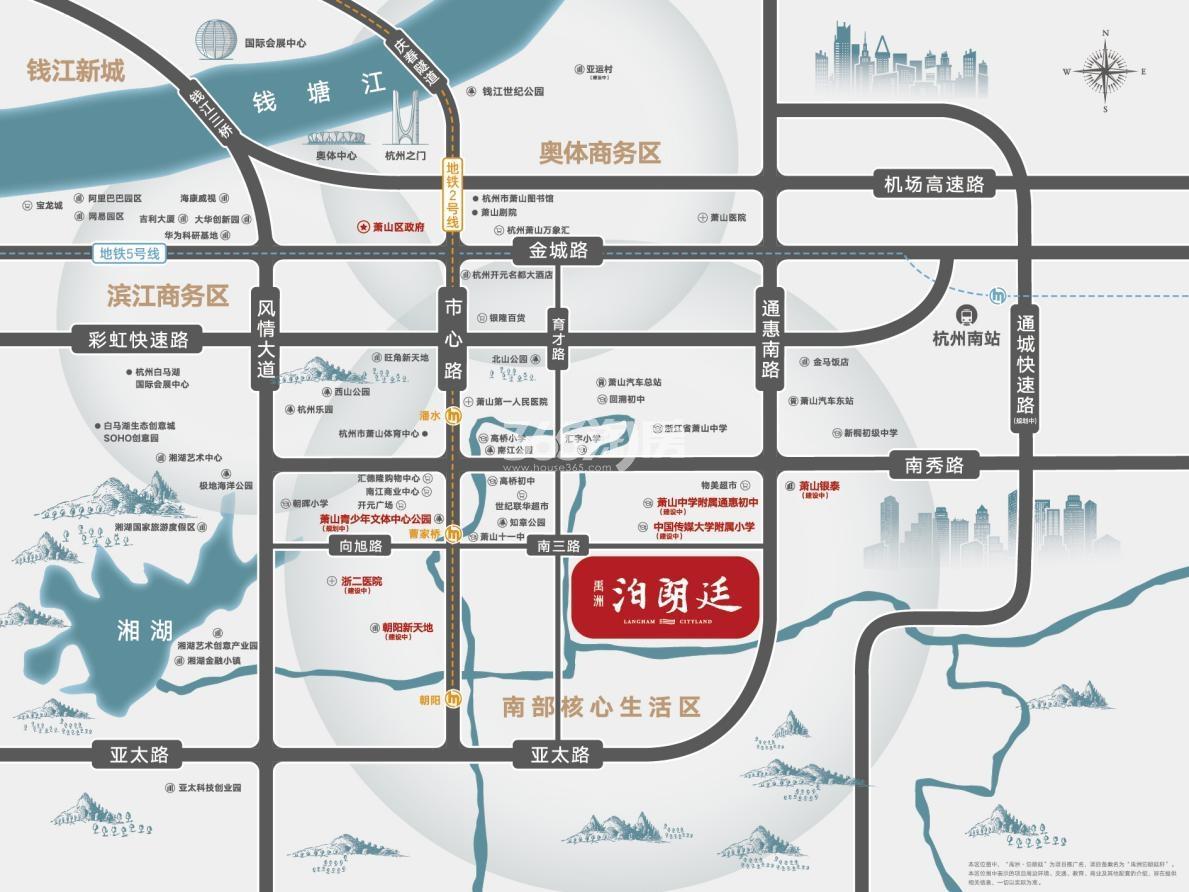 禹洲泊朗廷交通图