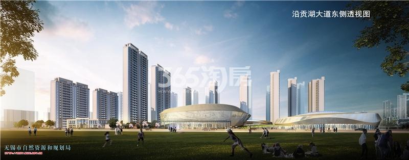 华发中央首府贡湖大道东侧透视效果图