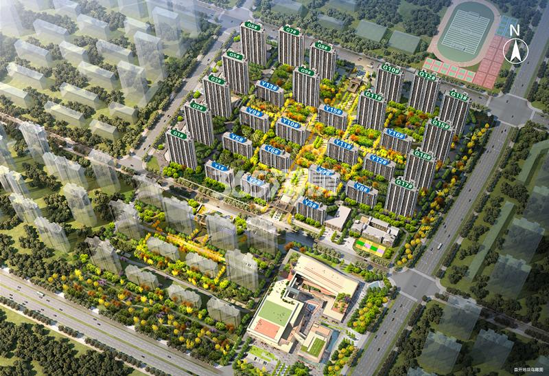绿地未来城鸟瞰图