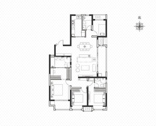 兰州安宁·吾悦广场项目户型图(建面约168㎡)