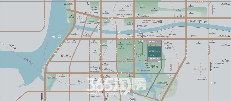 春江明月誉峰交通图