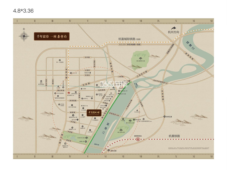 金茂星外滩交通图