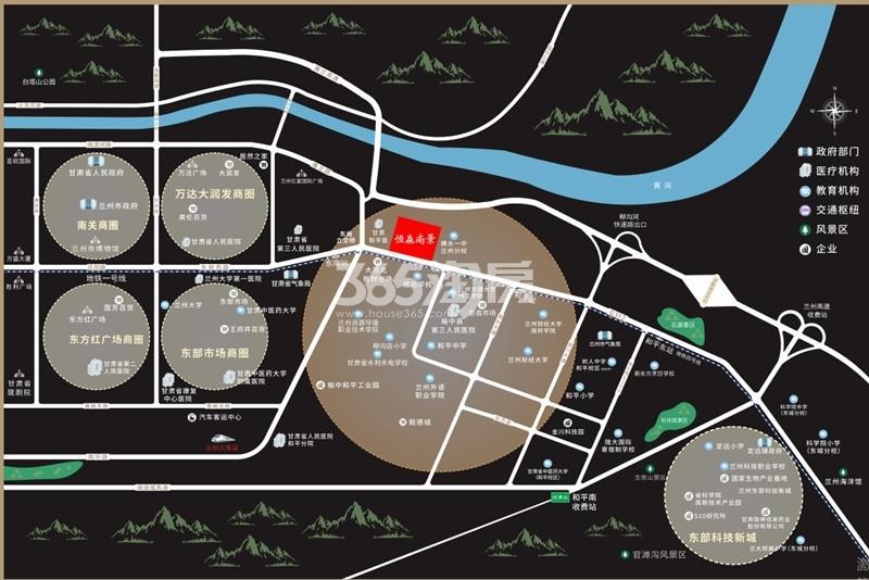 恒森·尚景交通图